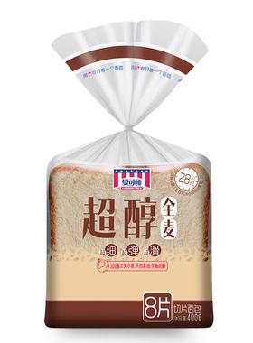 曼可顿超醇面包面包片(全麦)400g/袋零食糕点美食小吃休闲食品