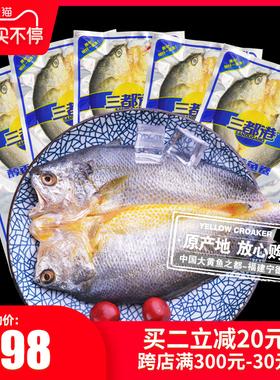 三都港黄鱼鲞调味黄花鱼大黄鱼小黄鱼海鲜生鲜冷冻免杀洗5条共2斤