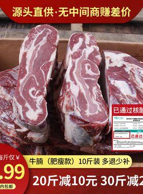 10斤装进口牛腩冷冻新鲜牛排腩牛腩牛肉牛腹腩坑腩优质生鲜筋皮