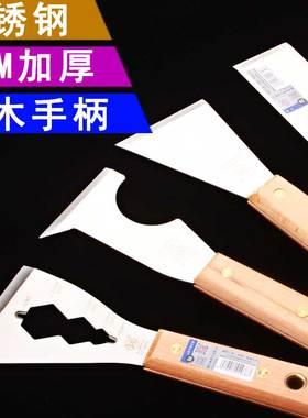 福冈铲刀清洁刀不锈钢水泥铲地刮灰刀铲工具装修重型小铲子加厚型