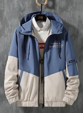 GKO(服饰)男士夹克2021新款春秋季男装宽松休闲外套潮