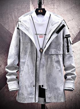 GKO(服饰)春季休闲外套男士夹克2021新款潮流夹克衣服男装
