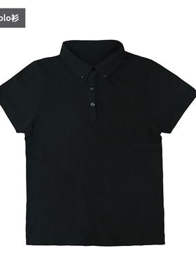 九唐服饰奔驰售后t恤短袖新款黑色男女士POLO衫汽车维修SA夏装