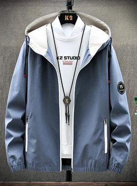 GKO(服饰)男士外套春季2020新款帅气休闲高端上衣服夹克潮牌