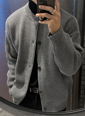 韩国东大门服饰男装潮流英伦风春秋新款毛衣韩版针织衫百搭开衫男