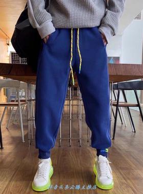 木卡村K2171#情侣款糖果色春款卫裤春装男女同款北木先生服饰130.
