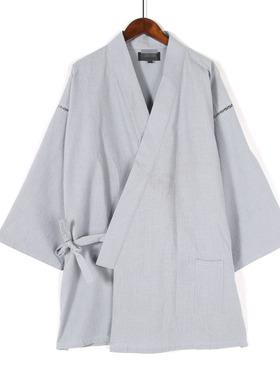 春夏季节日系休闲宽松特色大码男士上衣简约细绳外穿中长袖服饰男