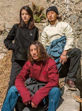 圣山服饰 基础系列春新款设计师原创棉质藏式衬衫男女同款三色入