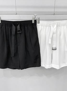 澳丞阿南服饰冰丝短裤 腰带 净版 男女可穿