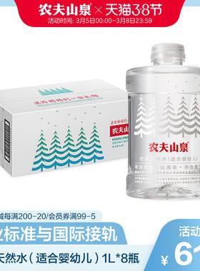 【农夫山泉官方旗舰店】农夫山泉婴儿水母婴水天然饮用水1L*8瓶