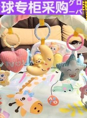 日本IU个月宝宝0-2岁新生婴婴儿玩具手摇铃0-3-12幼儿益智母婴用