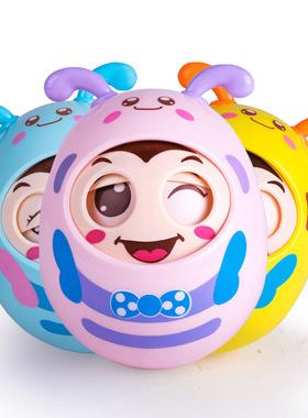 母婴玩具儿童早教点头软耳眨眼婴幼儿卡通手抓球不倒翁