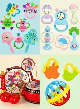8月龄宝宝玩具可咬安抚新生婴儿睡觉鼓手手持母婴五月练习训练。