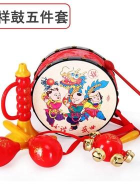 彩色磨牙棒婴儿玩具母婴-新生响铃0男孩摇铃3音乐鼓手持小宝宝。