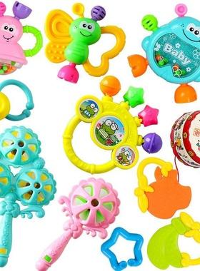 母婴手抓婴幼儿启蒙神器男孩床头铃宝宝摇铃玩具哄睡婴儿家用益。