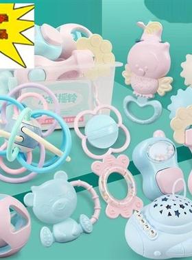 儿童母婴游戏宝宝手拿o玩具0-1岁带音乐婴儿小铃铛趣味男孩手抓。