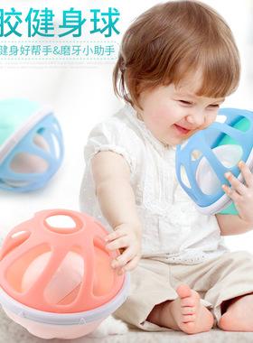 母婴玩具0-6-12个月益智软胶手抓球触觉感知球新生婴儿抓握球