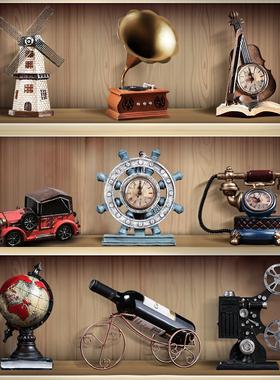 复古小摆件留声机创意家居客厅欧式服装咖啡店店铺轻奢酒柜装饰品