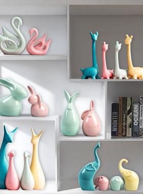 北欧家居装饰品小摆件轻奢客厅玄关电视酒柜卧室创意现代简约陶瓷