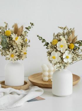 ins桌面干花花瓶摆件创意简约轻奢北欧家居插花玫瑰diy餐桌装饰花