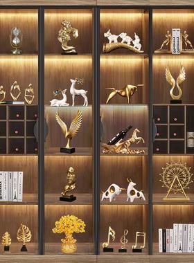 现代轻奢高档酒柜餐边柜摆件创意客厅办公室家居软装室内装饰品