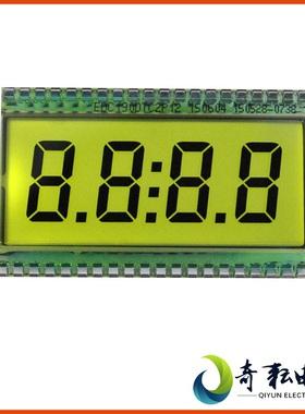 奇耘电子TN型4位8字7段式LCD数码管时钟显示屏断码液晶屏EDC190