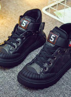 男童鞋子2020冬季新款大童男孩儿童鞋加绒加厚棉鞋真皮运动鞋冬鞋