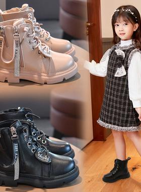 女童鞋马丁靴2020新款英伦风冬季二棉短靴儿童秋冬款棉鞋加绒靴子