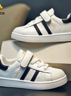 回力童鞋儿童小白鞋秋冬新款贝壳头软底板鞋男童二棉加绒运动鞋子