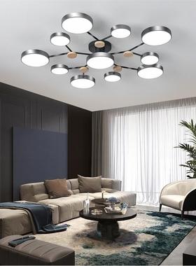 客厅灯简约现代创意个性网红灯大气卧室灯马卡龙led北欧吸顶灯具