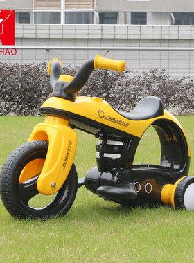 鹰豪儿童炫酷电动三轮摩托车可座1--5男女小孩宝宝可骑玩具车童车