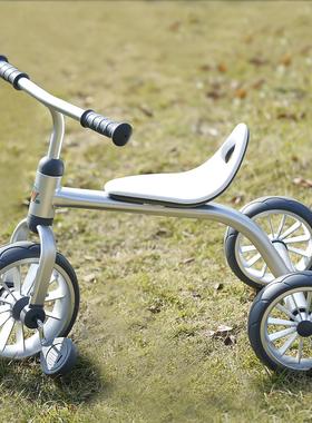 ins儿童三轮脚踏车2-3-6岁童车小铝合金老式怀旧带脚踏宝宝三轮车