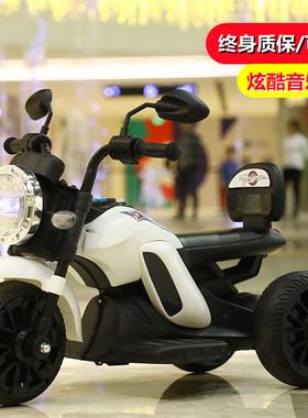 贝儿佳儿童电动摩托车三轮车小孩玩具男孩女宝宝童车可坐人充电