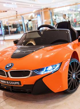宝马i8儿童电动车四轮汽车可坐宝宝玩具车可坐人童车遥控电瓶车