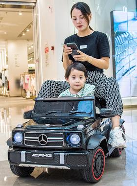 奔驰大G儿童电动车四轮汽车小孩遥控越野童车宝宝玩具车可坐大人