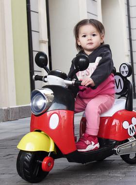 儿童电动车摩托车1--5岁三轮车男女孩宝宝可坐童车遥控车双驱玩具