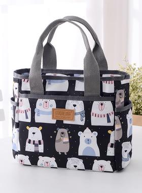 2021新款手提包女布包妈妈包母婴手提袋妈咪外出手拎包便当饭盒袋