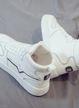 2021夏季新款高帮帆布潮鞋秋季潮流男鞋百搭休闲运动小白板鞋布鞋