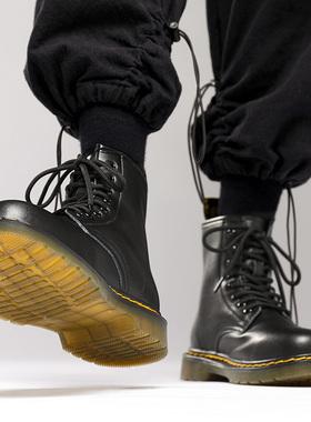 马丁靴男高帮冬季男士黑色中帮英伦风真皮短靴子工装靴加绒男鞋潮