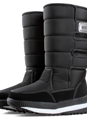东北防寒新款雪地靴女棉鞋保暖冬季加绒加厚户外高帮防水防滑男鞋