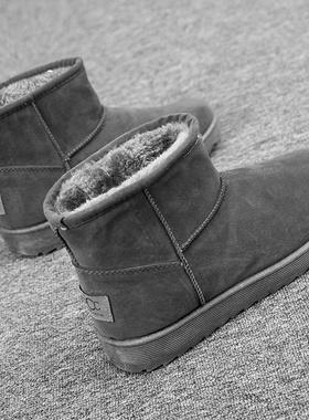 雪地靴男冬季保暖加绒男士加厚东北防水面包鞋高帮棉鞋马丁男鞋子