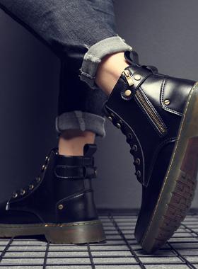 马丁靴男士冬季加绒男鞋高帮英伦风工装靴工作防水靴子切尔西潮鞋