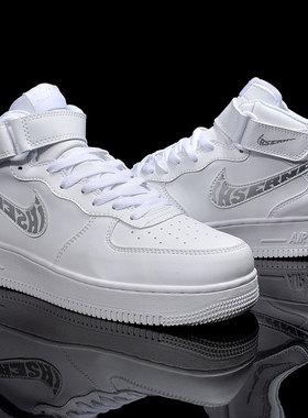 aj男鞋恩施耐克2021新款联名鞋空军一号篮球鞋鸳鸯高帮红脚趾女鞋