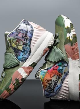 恩施耐克欧文6代男鞋高帮aj篮球鞋7夏季透气网布休闲运动鞋女潮