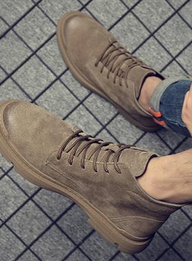 马丁靴男英伦风真皮鞋子男潮鞋高帮男鞋