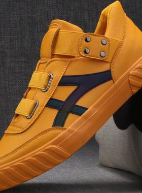 平板鞋男鞋秋季鞋子男潮鞋2021年新款冬季加绒棉鞋男士休闲鞋皮鞋