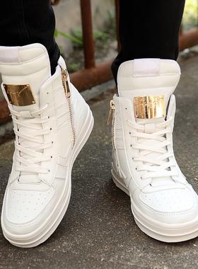 高帮鞋男2019新款潮流内增高男鞋6cm8cm街舞运动板鞋嘻哈冬季潮鞋