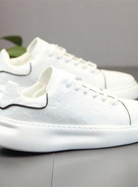 板鞋男鞋2019秋冬季新款小白鞋子男厚底内增高白鞋休闲潮鞋运动鞋
