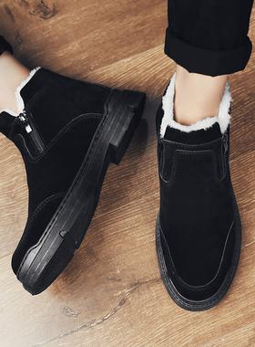 2019新款雪地靴男冬季加绒保暖男鞋防滑学生大棉鞋加厚运动靴子男