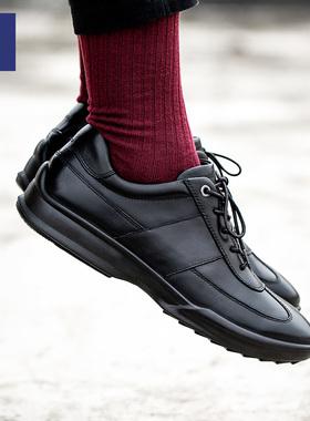 小米有品七面男鞋潮鞋2019新款秋冬季一体成型缓震运动时尚皮鞋